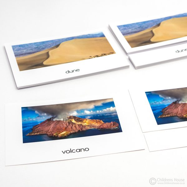 Topography - 3 Part Cards