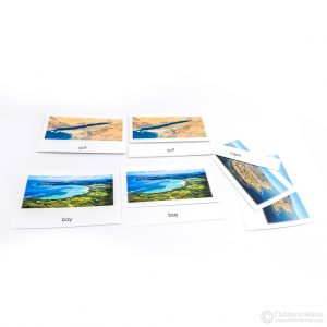 Land & Water Forms - 3 Part Cards