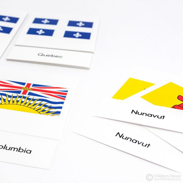 Canadian Flags - 3 Part Cards