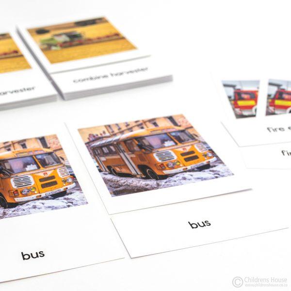 Land Transport - 3 Part Cards - Set 1