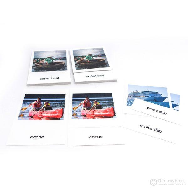 Water Transport - 3 Part Cards - Set 1