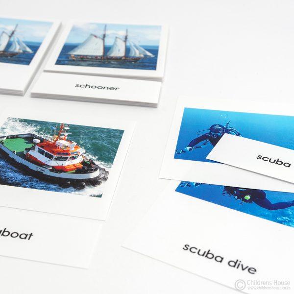 Water Transport - 3 Part Cards - Set 2