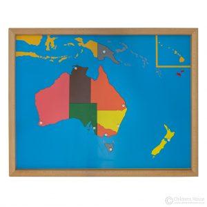 Oceania Puzzle Map